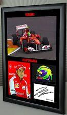 """Felipe Massa F1 Ferrari Framed Canvas Signed Print """"Great Gift"""""""