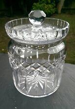 Waterford Crystal Lismore Con Coperchio Scatola per biscotti, firmato