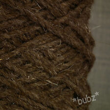 SUPER CHUNKY BERBER RUG WOOL - LARGE 500g CONE - CHOCOLATE BROWN - CARPET YARN