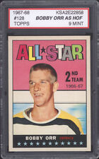 1967-68 1967 TOPPS HOCKEY ~ #128 ~ BOBBY ORR ~ KSA 9 MINT ~ DEAD CENTERED