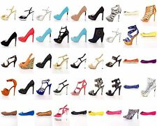 NEW Womens 20 Pairs Wholesale Lot Mixed High Heels Platform Pump Sandals Shoes