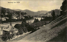 Salzburg Österreich Austria alte AK ~1910 Mülln Panorama Stadtansicht ungelaufen
