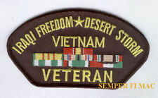 IRAQI FREEDOM DESERT STORM VETERAN HAT PATCH OIFUS MARINES NAVY ARMY AIR FORCE