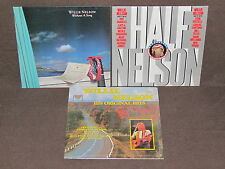 WILLIE NELSON 3 LP RECORD ALBUMS LOT COLLECTION Without Song/Half/Original Hits