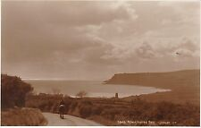 Man On Horse On Road Above Village, ROBIN HOOD'S BAY, Yorkshire RP