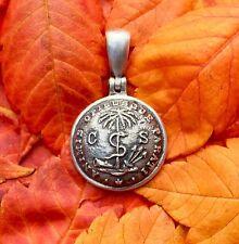 .925 Silver Confederate SOUTH CAROLINA Palmetto Guard Civil War Button Pendant