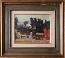 HELMUT GRANSOW (1921-2000) - IMPORTANT ORIGINAL OIL LANDSCAPE PAINTING ON BOARD