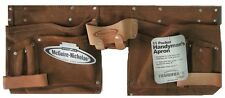 Carpenter Tool Pouch McGuire Nicholas 11 Pocket Handyman Apron Suede Leather