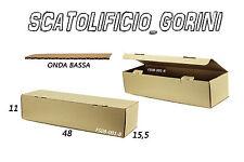 50 PZ SCATOLA CARTONE 48x15 ,5x11 FUSTELLATA IMBALLO  SPEDIZIONE BAULETTO LUNGHE