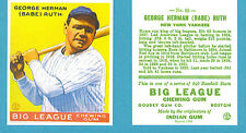 1933 Goudey Reprint #53 Babe Ruth Card - New York Yankees