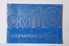 Olympus OM-10FC 35mm Film Camera Manual Instruction Book - English USED B40 AC2