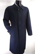 AQUASCUTUM ROVER Trench Rain Coat NAVY Blue DETACHABLE WOOL LINER 42 Made UK