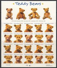 TEDDY BEARS :USA 2002 Centenary of the Teddy Bear  s/a sheetlet SG4166-9 x 5 MNH