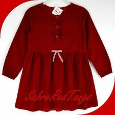 NWT HANNA ANDERSSON PINCORD CORD CORDUROY PEASANT DRESS CRANBERRY 130 8