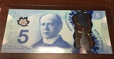 Bank of Canada 5 Dollars 2013 HBG  Macklem Carney Polymer - UNC!!! Free Shipping