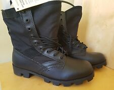 WELCO US ARMY  BLACK JUNGLE COMBAT MILITARY  BOOTS SIZE UK 8
