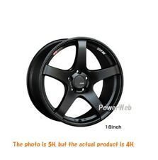 NEW SSR GT V01 17x7 4-100 +42 +50 FLAT BLACK 17inch *1rim price official