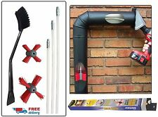 Pellet Stove Vent Cleaning Kit Rotary System Spinning Brushes Soot Ash Cleaner