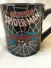 THE AMAZING SPIDERMAN 20 OZ COFFEE CUP/MUG GLITTER LETTERS