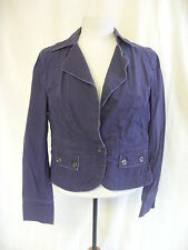 "Ladies Jacket - Old Navy, size M 33"" bust, dark blue, cotton, raw edged - 7562"