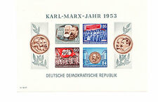 Briefmarken DDR 1953 Karl Marx Jahr Block Mi Block 9 B ungestempelt