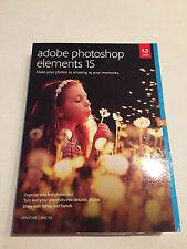 Adobe Photoshop Elements 15 Windows Mac in Retail Box Brand NEW - Free Shipping!