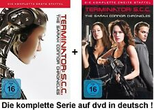 Terminator SCC Season I+II- The Sarah Connor Chronicles Staffeln 1+2 dvd Set neu