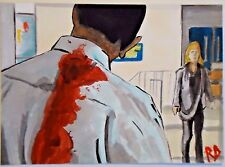 FEAR THE WALKING DEAD SKETCH CARD 'ARTIE NO MORE' PAINTED PSC 1/1 ROBERT DECKER