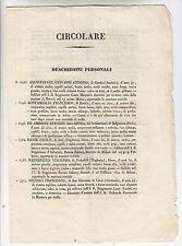 W514-LOMB.VENETO-CIRCOLARE DI POLIZIA CON RICERCATI 1842