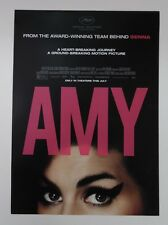 "Amy Winehouse - Amy (movie) Promo Poster 11.5"" x 16"" Rare Limited Edition"