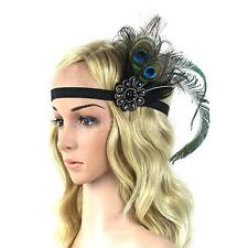 Fashion Peacock Feather Flapper Hair Fascinator Fancy Headband Headpiece