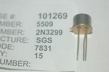 SGS 2N3299 Bipolar Junction Transistor NPN Type TO-39 New Lot Quantity-3