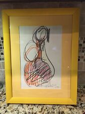 Sachio Yamashita Original Signed art drawing - Sketch #2 For Mother and Child