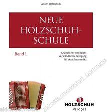 Madera nueva escuela de calzado 1, primitivas mano-harmonica, book for diatonic accordion