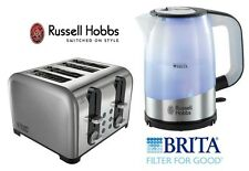 Russell Hobbs Kettle and Toaster Set Brita Filter 18554 Kettle & 4 SliceToaster