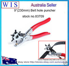 "9""(230mm) Revolving Leather Belt Eyelet Hole Punch Puncher Plier,2mm-4.5mm-83709"