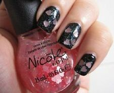 NEW! Nicole By OPI nail polish lacquer LOVE YOUR LIFE ~ Pink Heart Glitter