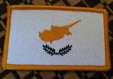 CYPRUS Flag Patch With VELCRO® Brand Fastener Military Gold Emblem