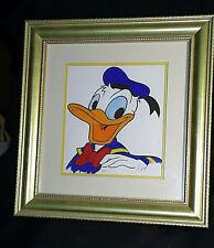 1996 Framed Signed A. West Hand Colored LE Donald Duck Lithograph 3/35 COA