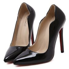 Formal Work Women Shoes Good PU Falbala Red Sole Pointy Toe Slim High Heels Pump