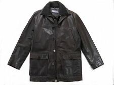 Ben Sherman mens leather jacket medium 40 regular