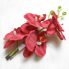 Fashion Women Artifical Orchid Flower Bridal Party Wedding Beach Gift Hair Clip