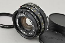 MINOLTA M-ROKKOR 40mm F2 MF Lens for CL CLE Leica M Mount with Filter #170207al