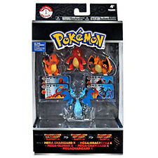 Charmander/ Charmeleon/ Charizard/ Mega Charizard X - Pokemon XY 4 pc Figure Set