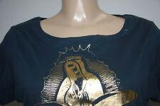 MAX AZRIA TEE SHIRT DORE OR NEUF L 40 42 HAUT TOP