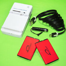 AceSoft 1350 mAh Battery for Tracfone Straight Talk LG 440G Charger Cable Stylus