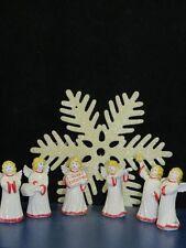 +# A009386_10 Goebel Arbeitsmuster 41-131bis136 6 Weihnachtsengel rot/weiß TMK6
