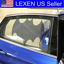 2X BATMAN CAR WINDOW SUN BLOCK SHADE Static Cling Tint for Baby Protection e