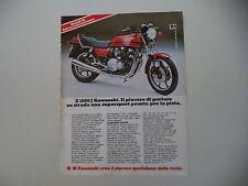 advertising Pubblicità 1981 MOTO KAWASAKI Z1000 Z 1000 J