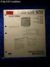 Sony Service Manual HCD D260 / N250 Component System (#1403)